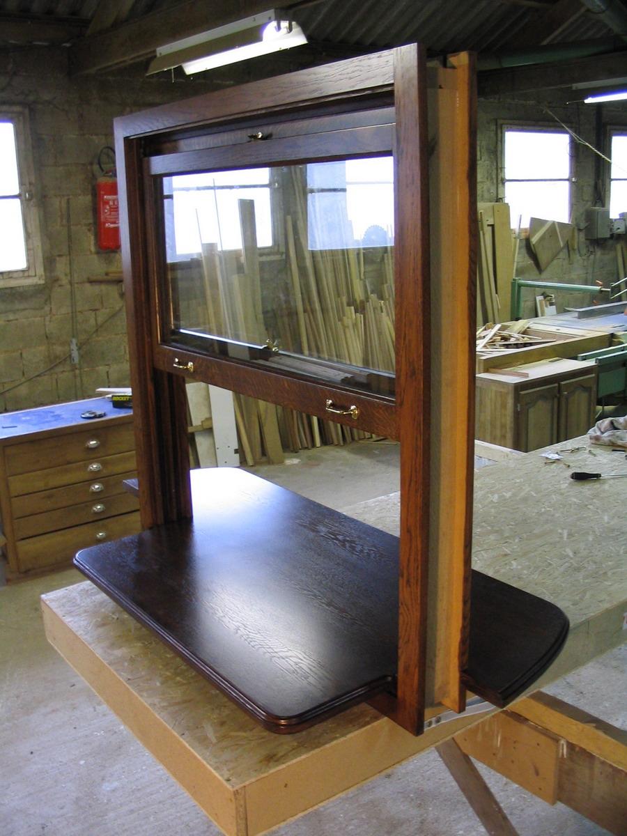 Passe plats passe monnaies guillotine l 39 atelier du for Passe plat mur porteur